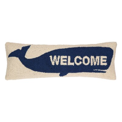 Welcome Whale Hook Wool Throw Pillow