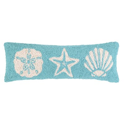 Seashell Hook Wool Throw Pillow