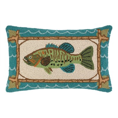 Large Mouth Bass Hook Wool Lumbar Pillow