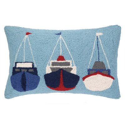 Sail Boats Hook Wool Lumbar Pillow