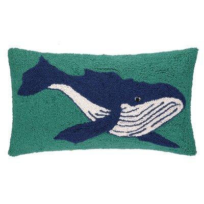 Humpback Whale Hook Wool Lumbar Pillow
