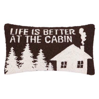 Life is Better Hook Wool Lumbar Pillow