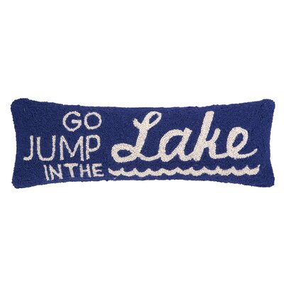 Jump in the Lake Hook Wool Throw Pillow