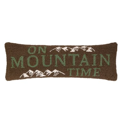 On Mountain Time Hook Wool Throw Pillow
