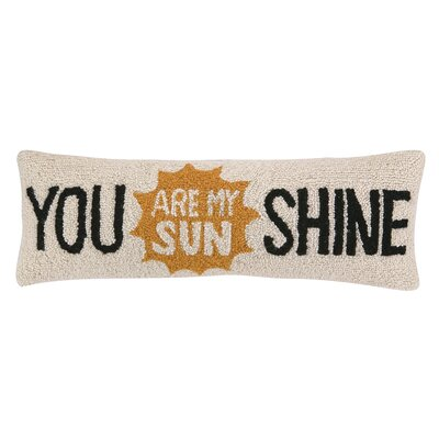 You Are My Sunshine Hook Wool Throw Pillow