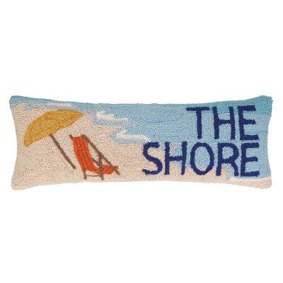 The Shore Beach Chair Hook Wool Throw Pillow