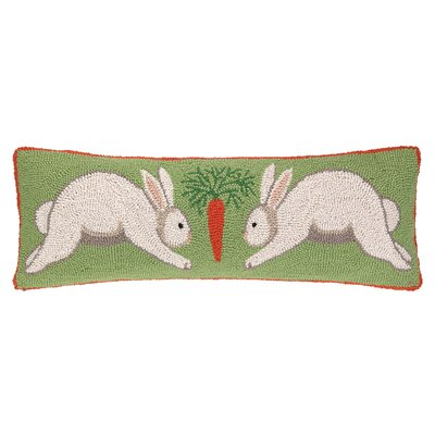 Happy Hopping Hook Wool Throw Pillow