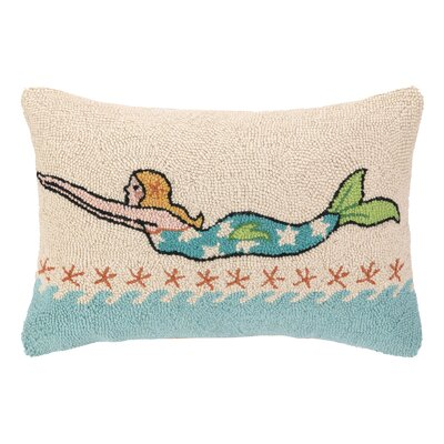 Mermaid Hook Wool Lumbar Pillow