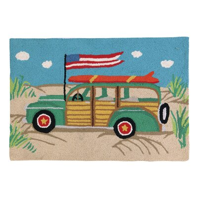 Going Places Woodie Car Hook Area Rug