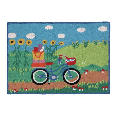 Going Places Bicycles Hook Area Rug