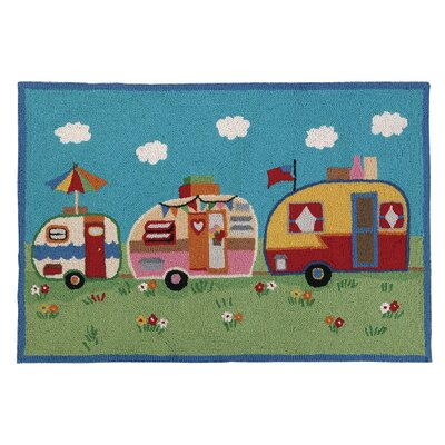 Camper Parade Hook Area Rug