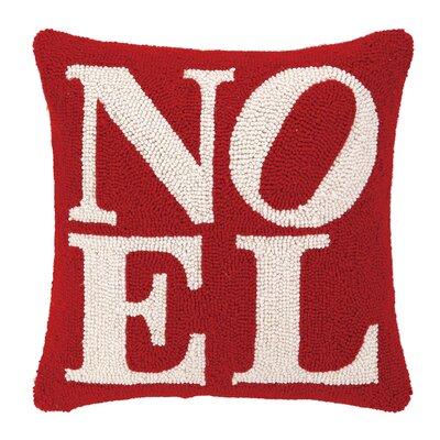 Noel Hook Wool Throw Pillow