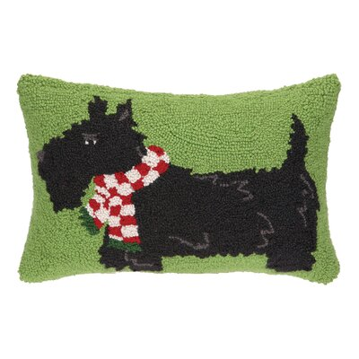 Terrier with Scarf Hook Wool Throw Pillow