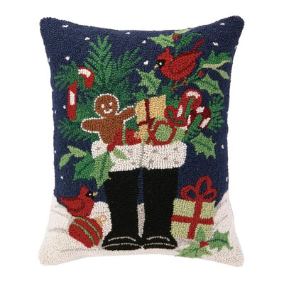 Santas Christmas Boots Hook Wool Throw Pillow