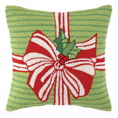 Especially For You Bow Hook Wool Throw Pillow