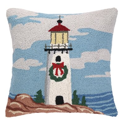 Light Tower Wreath Hook Wool Throw Pillow