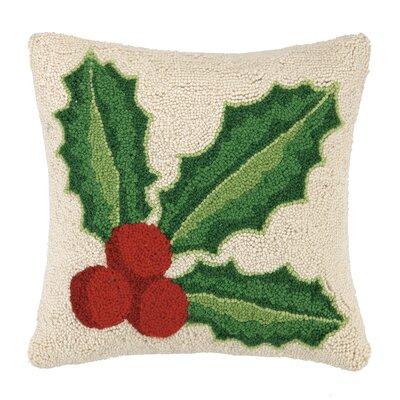Holly Hook Wool Throw Pillow