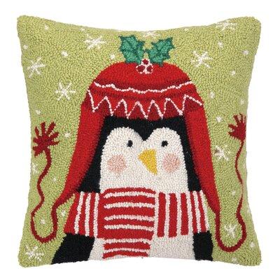 Penguin Beanie Hook Wool Throw Pillow