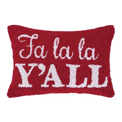 Fa La La Yall Hook Wool Throw Pillow