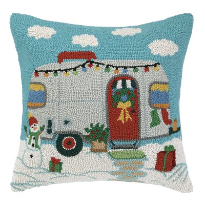 Holiday Trailer Hook Wool Throw Pillow