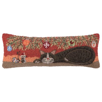 Mouse and Cat Nap Hook Wool Throw Pillow