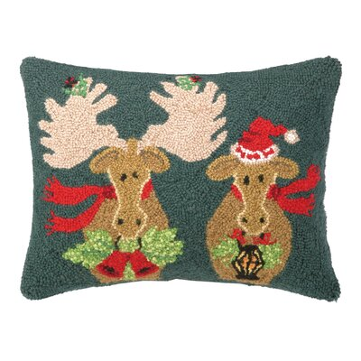 Seasons Greeting Hook Wool Throw Pillow