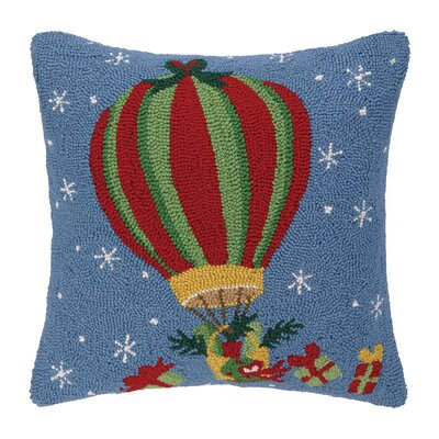 Holiday Air Balloon Hook Wool Throw Pillow