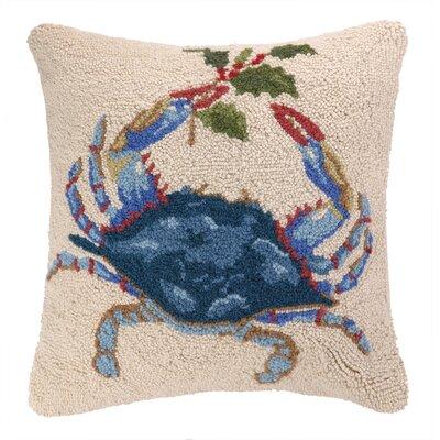 Holiday Crab Hook Wool Throw Pillow