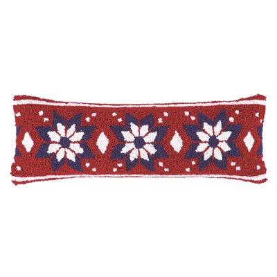 Fair Isle Snowflake Hook Wool Throw Pillow