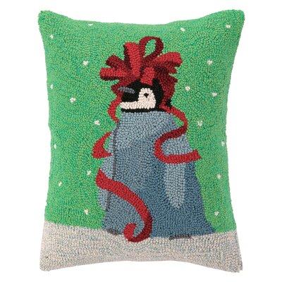 Baby Penguin Ribbon Hook Wool Throw Pillow