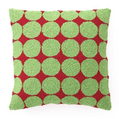 Dots Hook Wool Throw Pillow