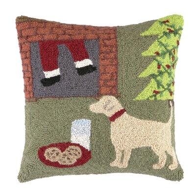 Cookies for Santa Hook Wool Throw Pillow