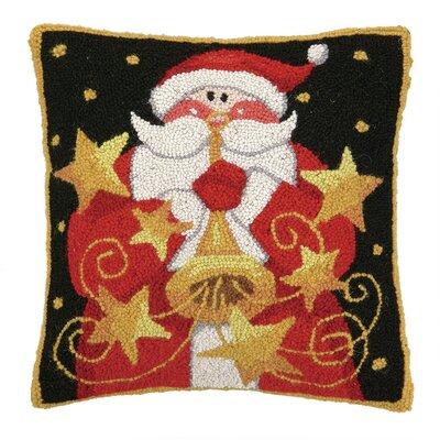 Santa with Horn Hook Wool Throw Pillow