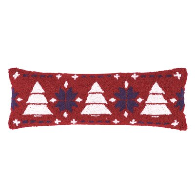 Fair Isle Tree Hook Wool Throw Pillow