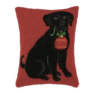 Lab Ornament Hook Wool Throw Pillow
