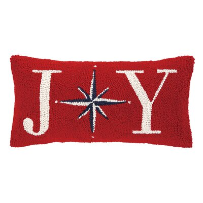 Joy Christmas Star Hook Wool Throw Pillow