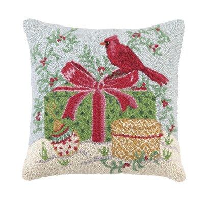 Winter Wonderland Cardinal Hook Wool Throw Pillow