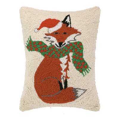 Santa Fox Hook Wool Throw Pillow