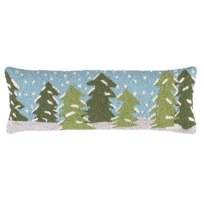 Snowy Trees Hook Wool Throw Pillow