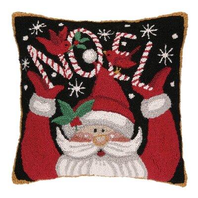 Santa Noel Hook Wool Throw Pillow