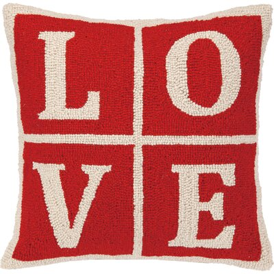 Love Christmas Blocks Hook Wool Throw Pillow