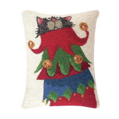 Jester Cat Hook Wool Throw Pillow