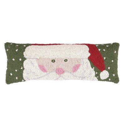 Santas Head Hook Wool Throw Pillow