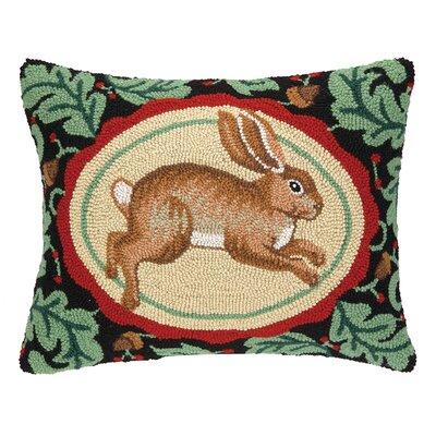 Rabbit Hook Wool Throw Pillow