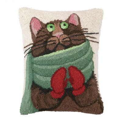Cat Cube Hook Wool Throw Pillow