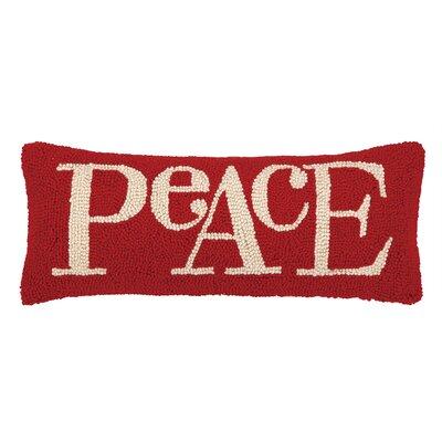 Peace Lettering Hook Lumbar Pillow