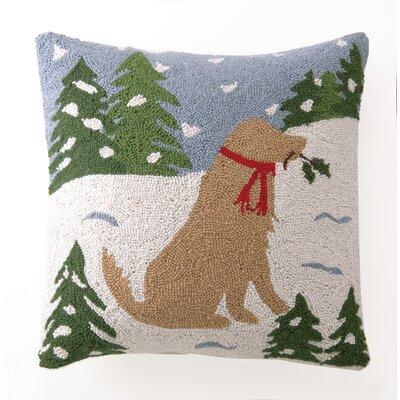 Lab on Snow Hook Wool Throw Pillow