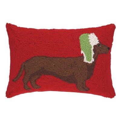 Dachshund Hook Wool Throw Pillow