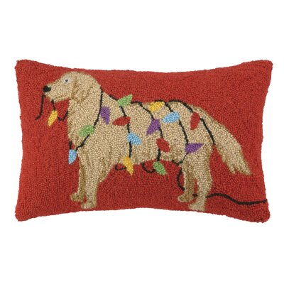 Night Walk Retriever Hook Wool Lumbar Pillow