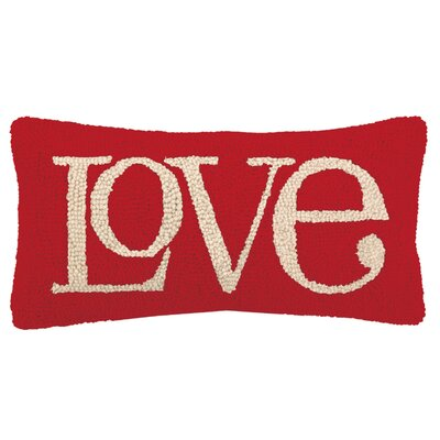 Love Lettering Hook Wool Throw Pillow